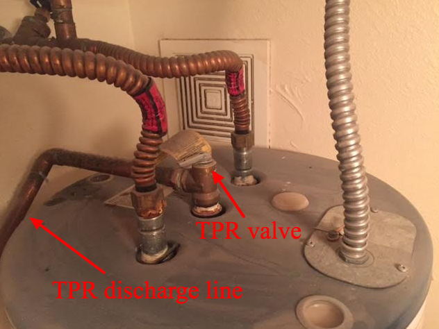 An example of TPR valve and discharge line